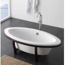 Ванна отдельностоящая овальная на деревянных ножках 1880мм, 849.