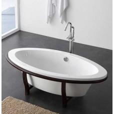 Ванна отдельностоящая овальная на деревянных ножках, 849.