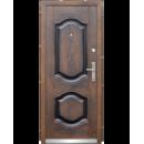 Двери входные металлические 2050*860*70мм С-61 бархатный лак-улица левые