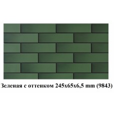 1571 Плитка фасад. Зеленая гладкая с оттенком (245*65*6,5)