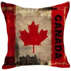 Наволочка винтаж флаг Канада