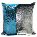 Наволочка люрекс голубая и серебро