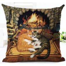 Наволочка декоративная кошки