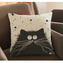 Наволочка декоративная Веселый кот