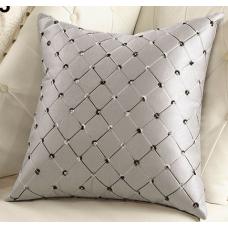 Наволочка декоративная квадраты белая