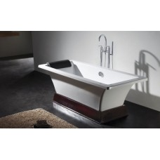 Ванна отдельностоящая прямоугольная на деревянной подставке 1800мм, 886.